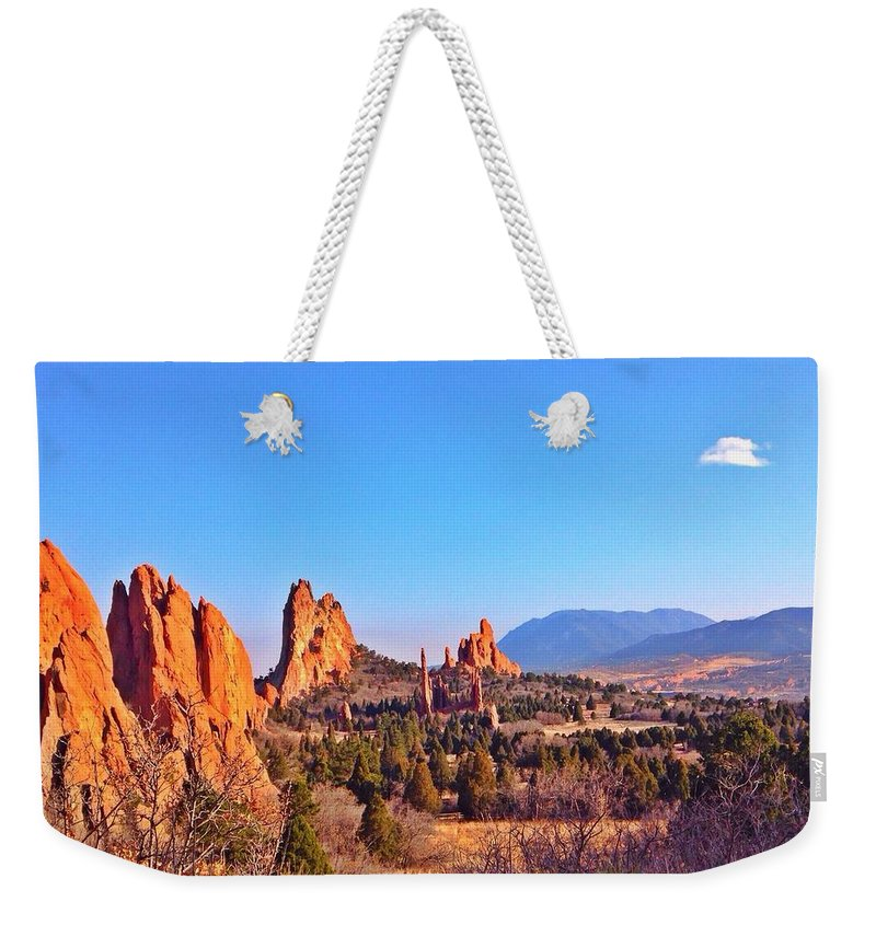 Landscape Weekender Tote Bag featuring the photograph The Garden by Sarah Jane Thompson
