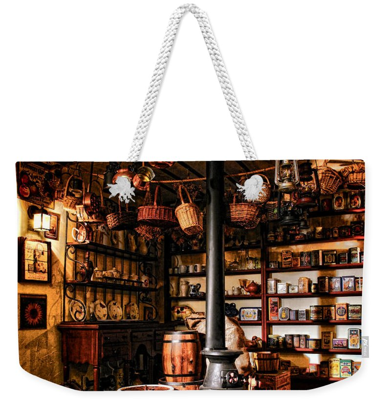 General Weekender Tote Bag featuring the photograph The General Store In My Basement by Olivier Le Queinec