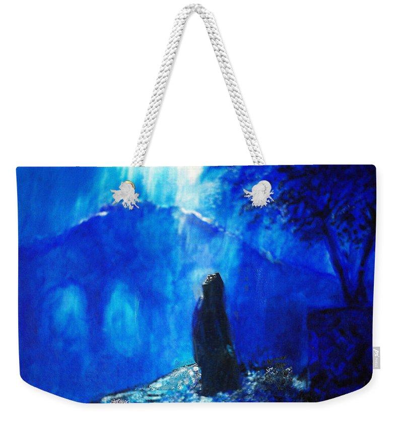 The Gethsemane Prayer Weekender Tote Bag featuring the painting The Gethsemane Prayer by Seth Weaver