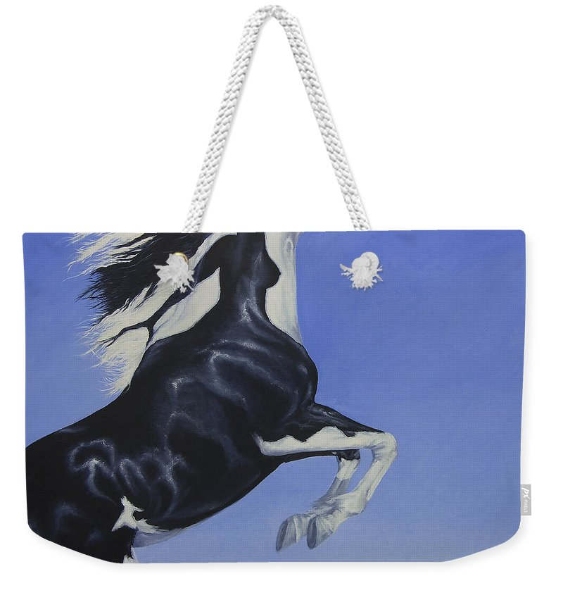 Paint Weekender Tote Bag featuring the painting The Goddess Within by Louise Green