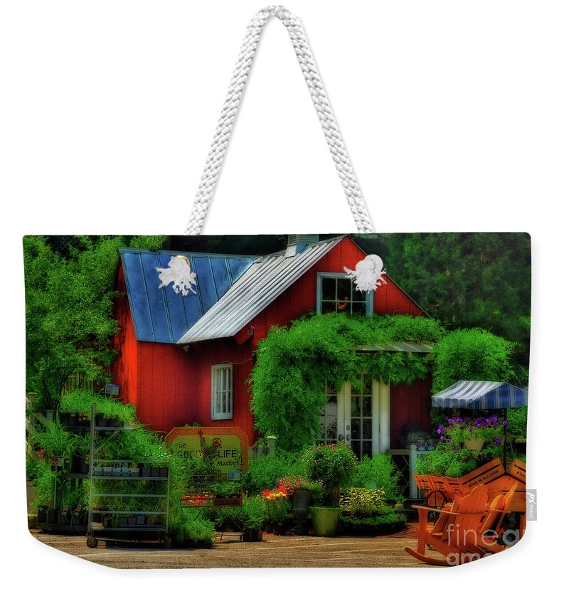 House Weekender Tote Bag featuring the photograph The Good Life by Lois Bryan