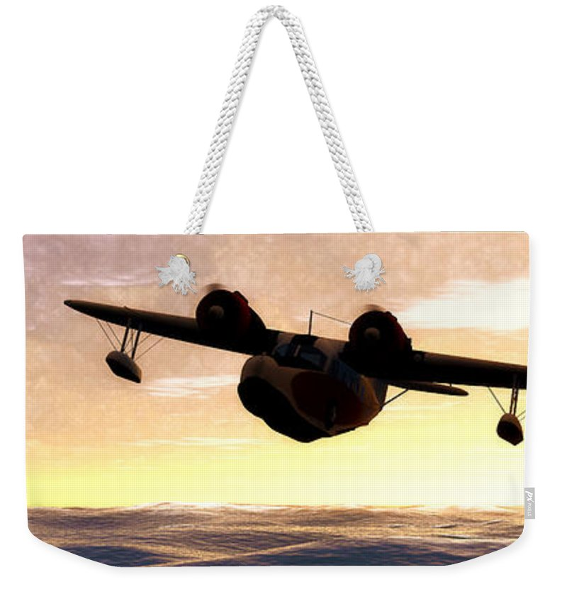 Vue Render Weekender Tote Bag featuring the photograph The Goose by Tim Fillingim
