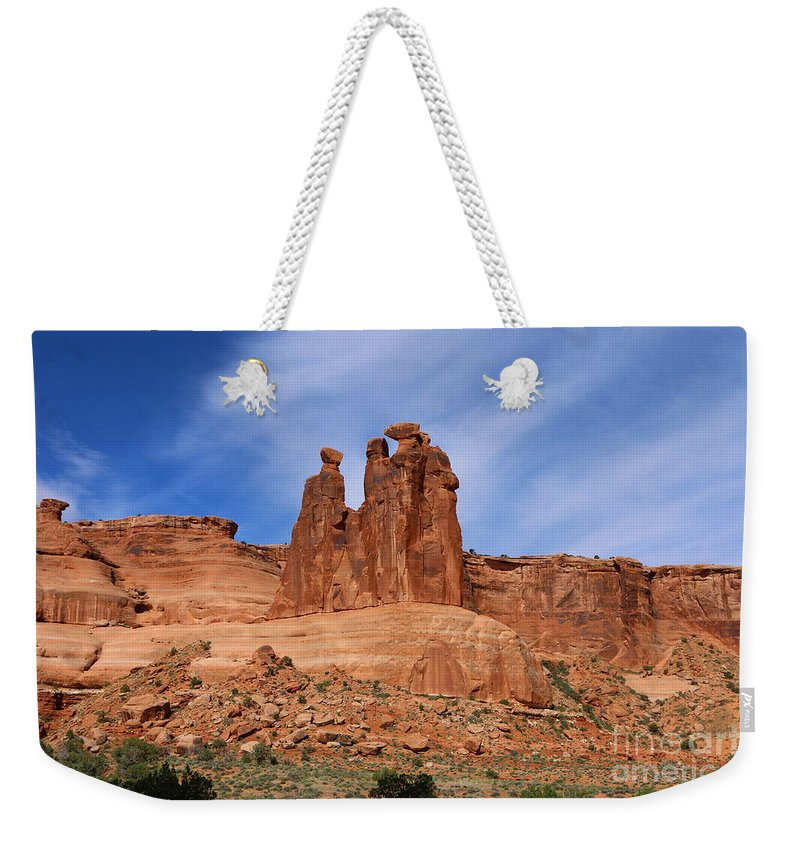 Three Gossips Weekender Tote Bag featuring the photograph The Gossips A Nature's Beauty by Christiane Schulze Art And Photography