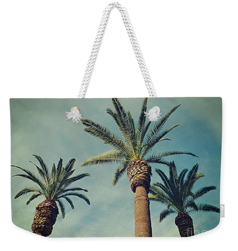 Palm Tree Weekender Tote Bag featuring the photograph The Gossips2 by Meghan at FireBonnet Art