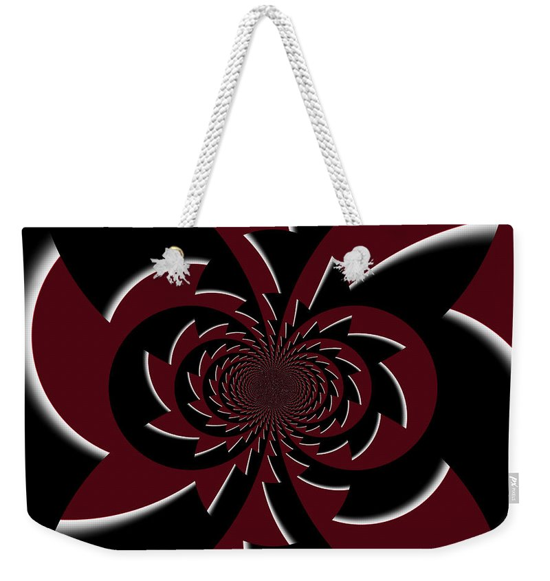 Digital Art Weekender Tote Bag featuring the digital art The Gothic Puzzle by Absinthe Art By Michelle LeAnn Scott