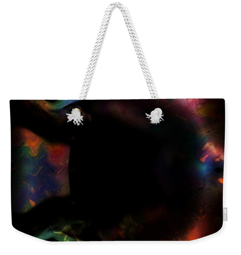 Woman Women Nude Naked Boobs Tits Breast Color Colorful Abstract Impressionism Expressionism Digital Art Two Arms Hand Body Scape Female Erotic Sex Sexual Weekender Tote Bag featuring the digital art The Grabing Hands by Steve K