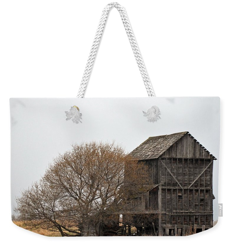 Farming Weekender Tote Bag featuring the photograph The Granary by Whispering Peaks Photography