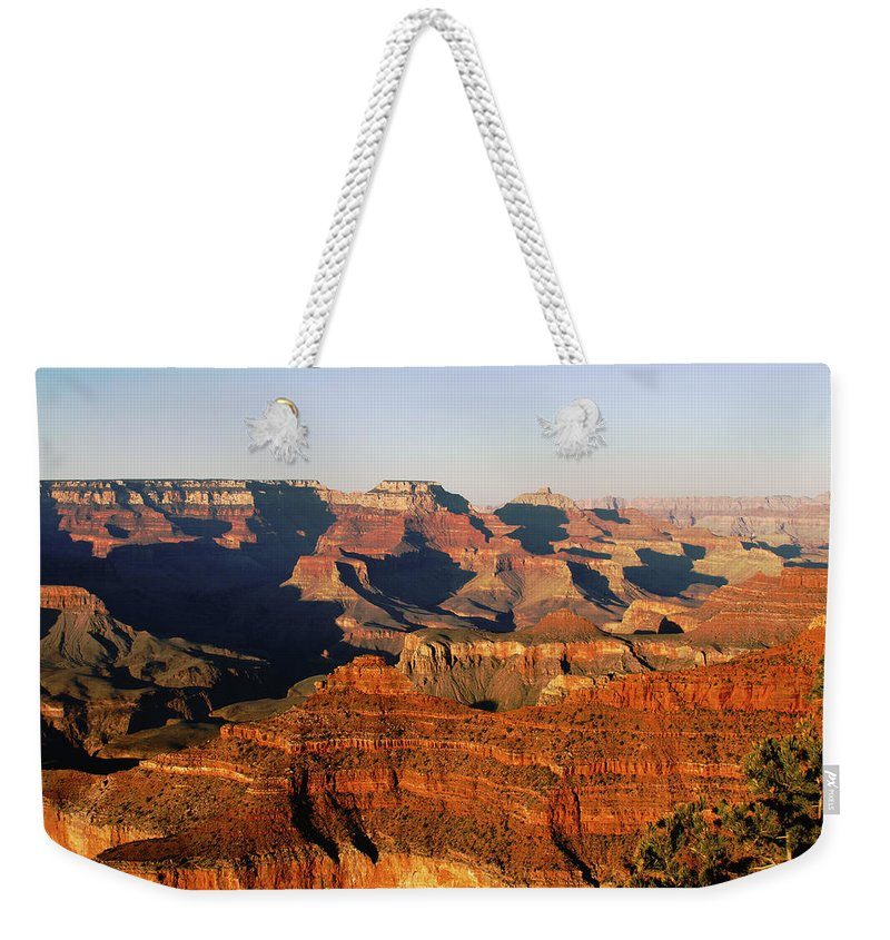The Grand Canyon Weekender Tote Bag featuring the photograph Mather Point by Yousif Hadaya