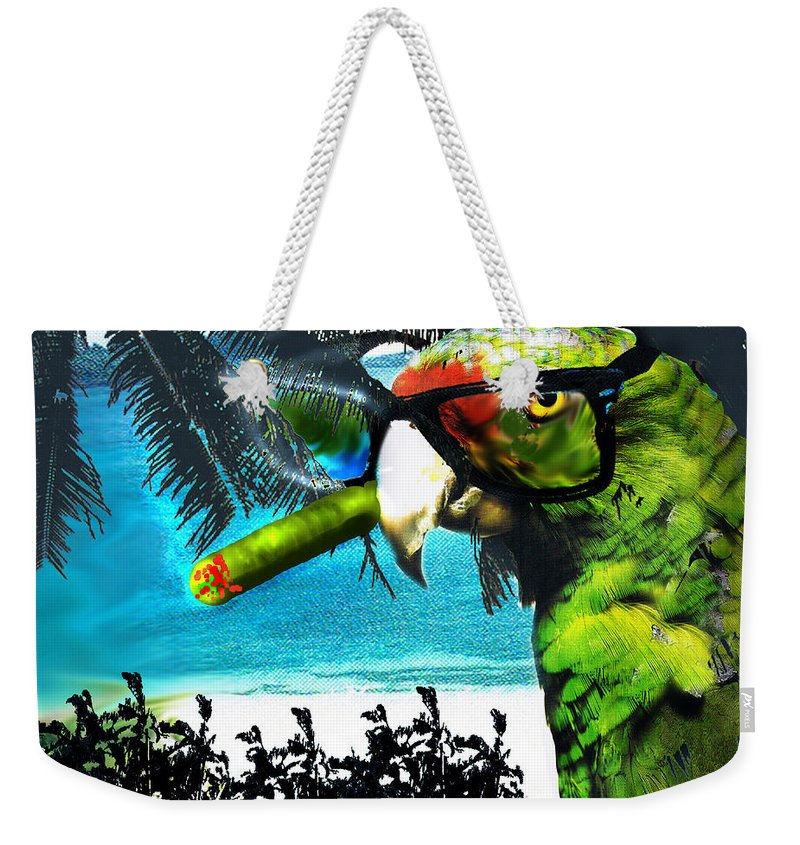 The Great Bird Of Casablanca Weekender Tote Bag featuring the digital art The Great Bird Of Casablanca by Seth Weaver