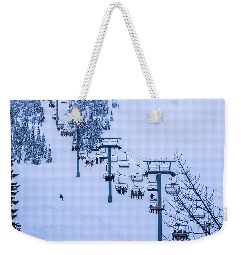 Mountains Weekender Tote Bag featuring the photograph The Great Escape by Albert Seger