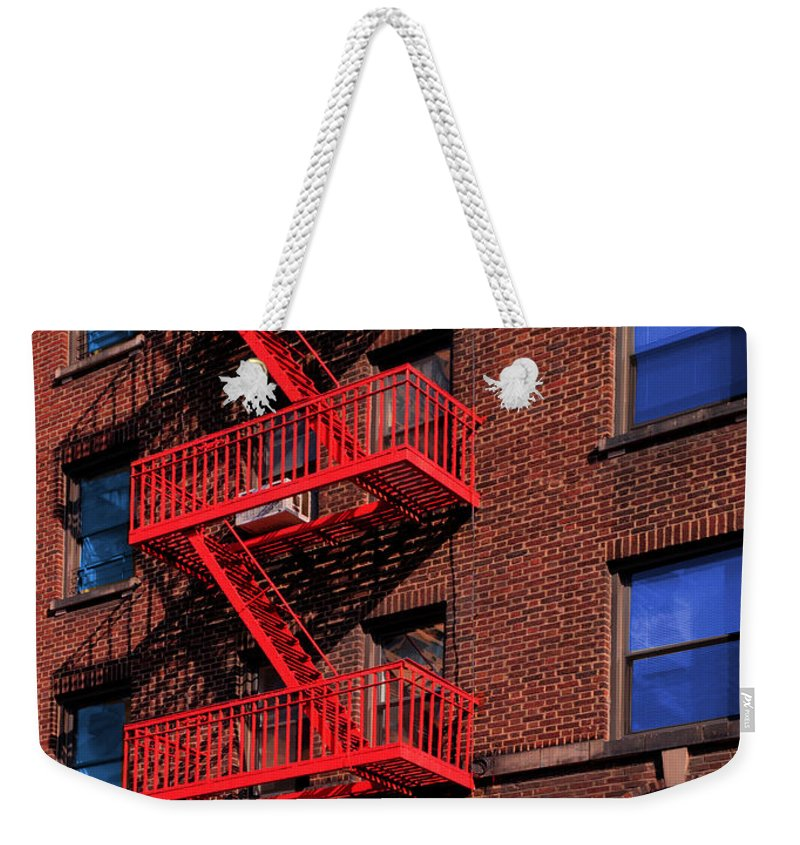 Fire Escape Weekender Tote Bag featuring the photograph The Great Escape by Paul Wear