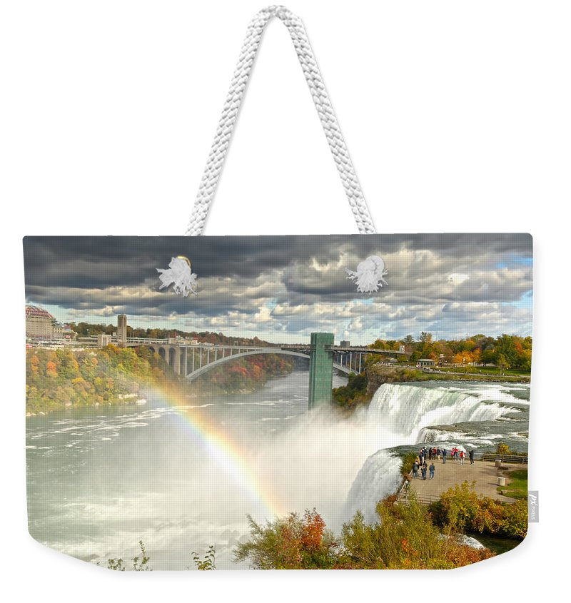 Tesla Electric Weekender Tote Bag featuring the photograph The Great Power Of Tesla by Randall Branham