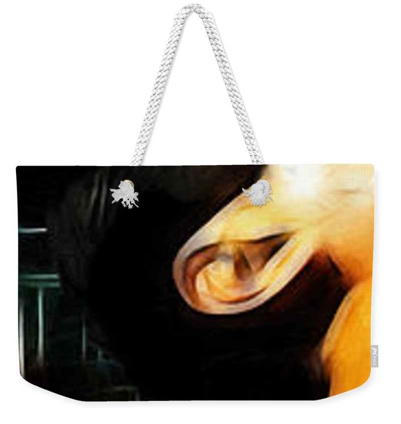 Rock Music Freddie Mercury Queen Famous Band 80s 70s 90s Star Song Songwriter Weekender Tote Bag featuring the painting The Great Pretender 1 by Steve K
