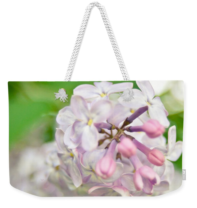 Flower Weekender Tote Bag featuring the mixed media The Greatest Love Of All by Trish Tritz