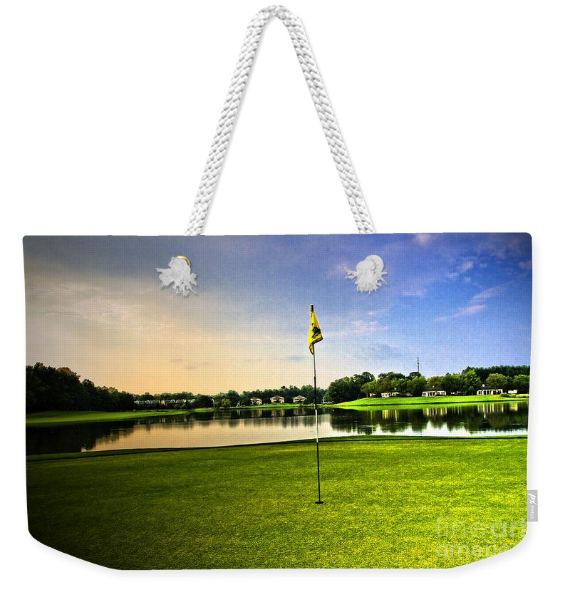 Golf Course Weekender Tote Bag featuring the photograph The Green by Scott Pellegrin