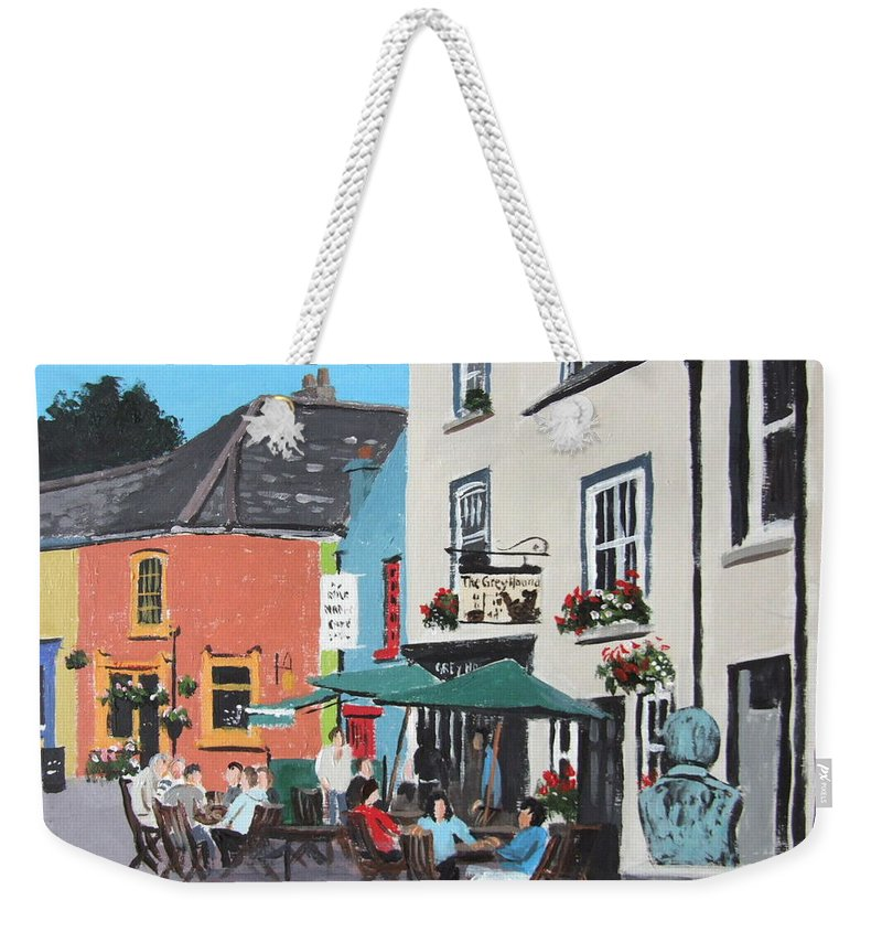 Kinsale Weekender Tote Bag featuring the painting The Greyhound Bar Kinsale by Tony Gunning
