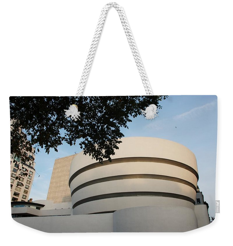 Scenic Weekender Tote Bag featuring the photograph The Guggenheim Museum by Rob Hans