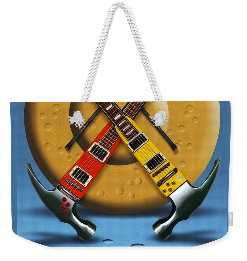 Rock And Roll Weekender Tote Bag featuring the photograph The Hammer by Mike McGlothlen