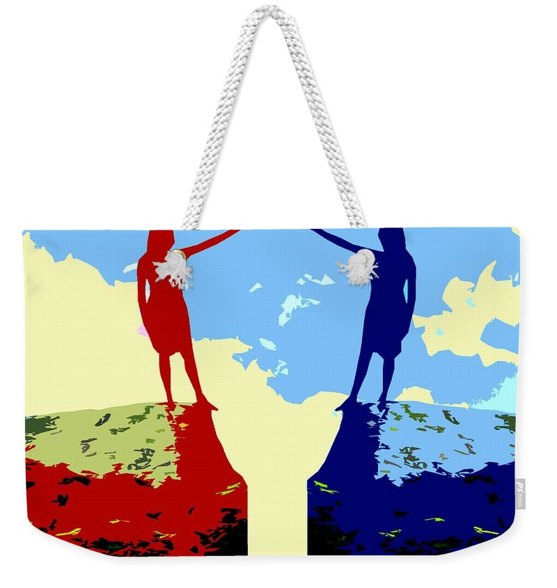 Friends Weekender Tote Bag featuring the painting The Hand Of Friendship by Patrick J Murphy