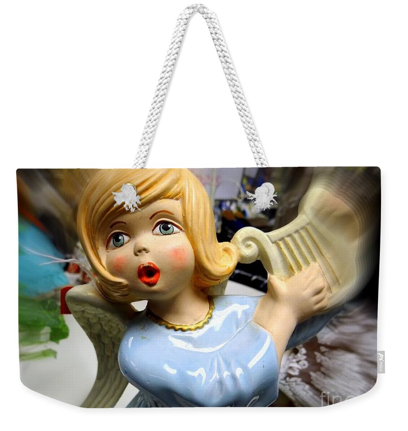 Doll Weekender Tote Bag featuring the photograph The Harpist by Ed Weidman