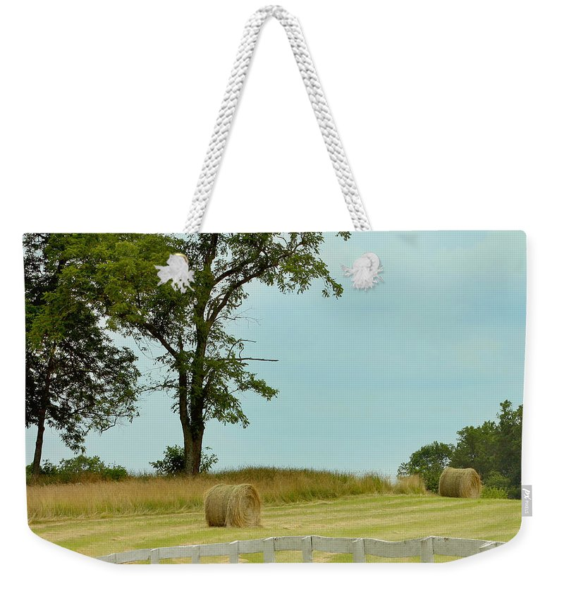 Agricultural Weekender Tote Bag featuring the photograph The Harvest by Kim Hojnacki