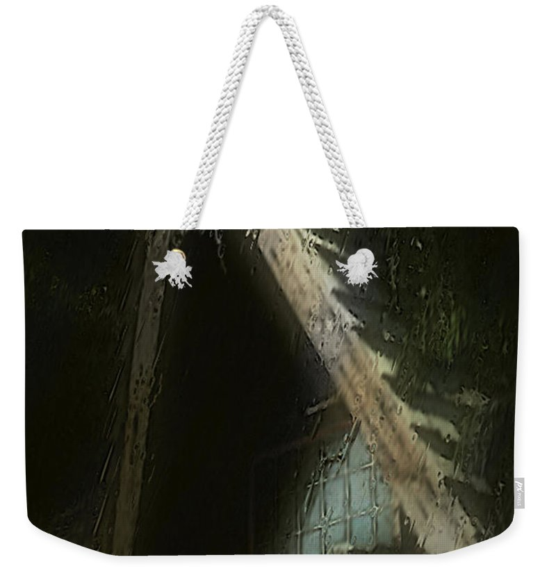 House Weekender Tote Bag featuring the painting The Haunted Gable by RC DeWinter