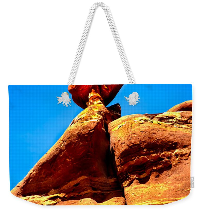 Panoramic Weekender Tote Bag featuring the photograph The Head by Robert Bales