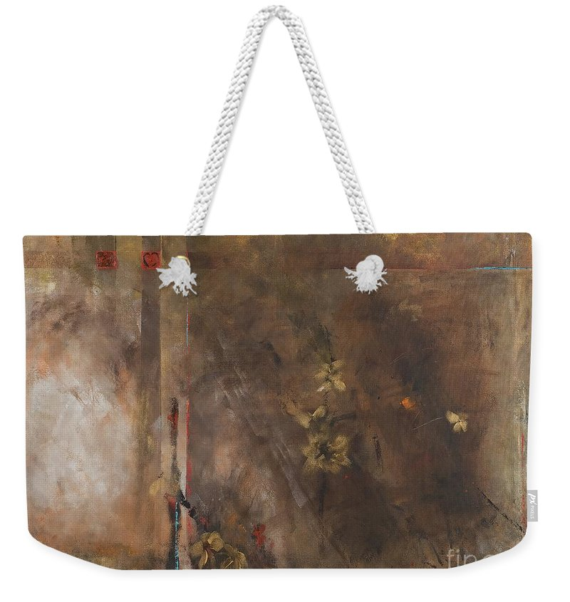 Abstact Weekender Tote Bag featuring the painting The Heart Is A Lonely Hunter by Frances Marino