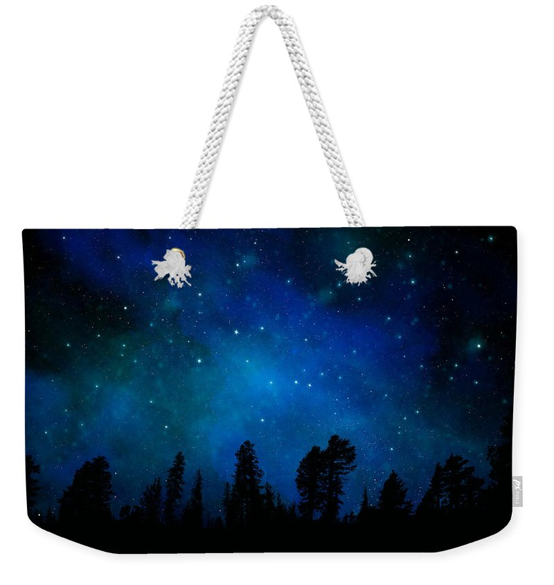 The Heavens Are Declaring Gods Glory Weekender Tote Bag featuring the painting The Heavens Are Declaring Gods Glory Mural by Frank Wilson