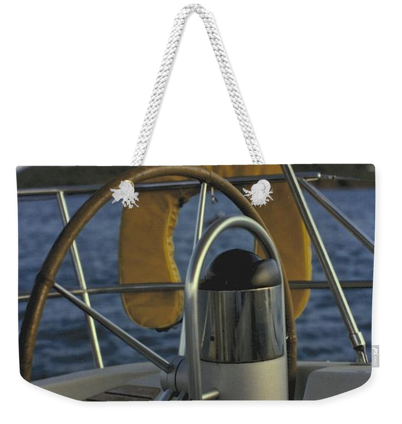 Sail Weekender Tote Bag featuring the photograph The Helm by William Norton