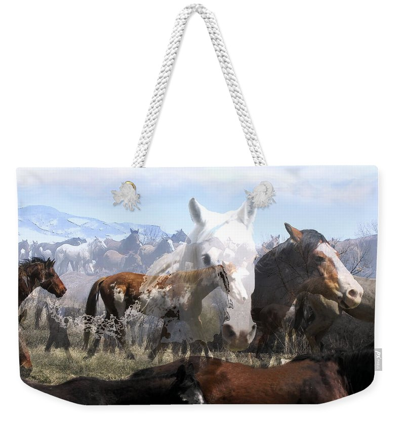 Horses Weekender Tote Bag featuring the photograph The Herd 2 by Kae Cheatham
