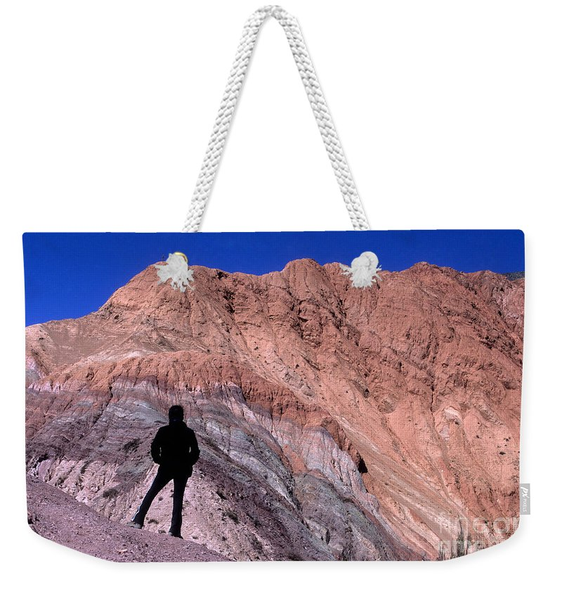 Argentina Weekender Tote Bag featuring the photograph The Hill Of Seven Colours Jujuy Argentina by James Brunker