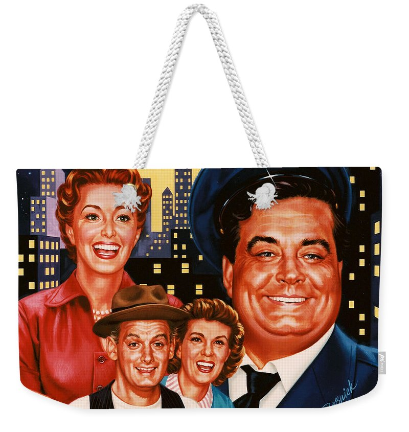 Portrait Weekender Tote Bag featuring the painting The Honeymooners by Dick Bobnick