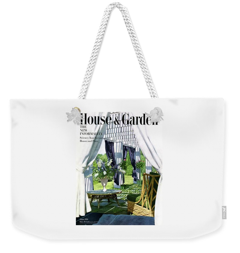 House And Garden Weekender Tote Bag featuring the photograph The Horsts Garden by Horst P. Horst