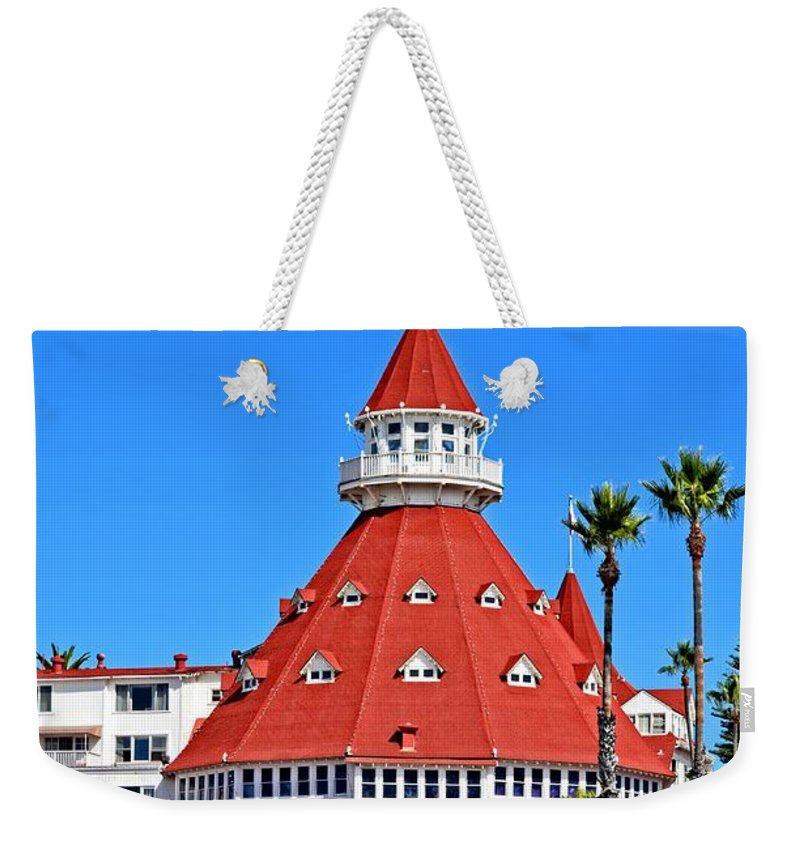 Coronado Weekender Tote Bag featuring the photograph The Hotel Of Hotels by Image Takers Photography LLC