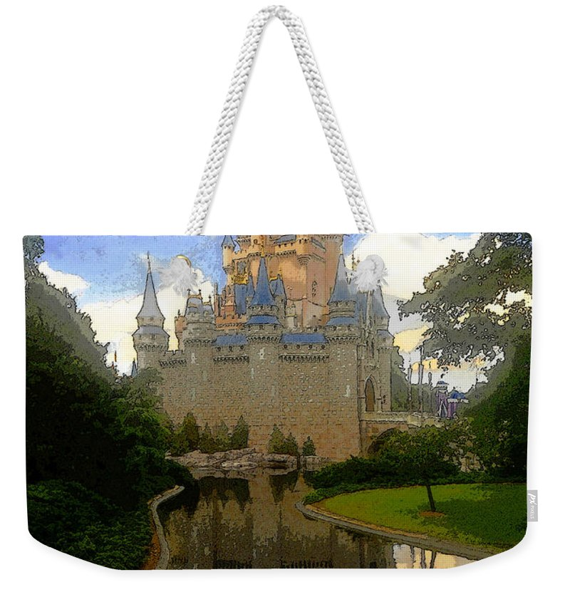 Art Weekender Tote Bag featuring the painting The House Of Cinderella by David Lee Thompson