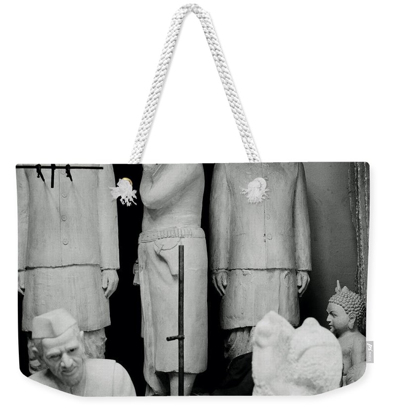 Black And White Weekender Tote Bag featuring the photograph The Indian Icons by Shaun Higson