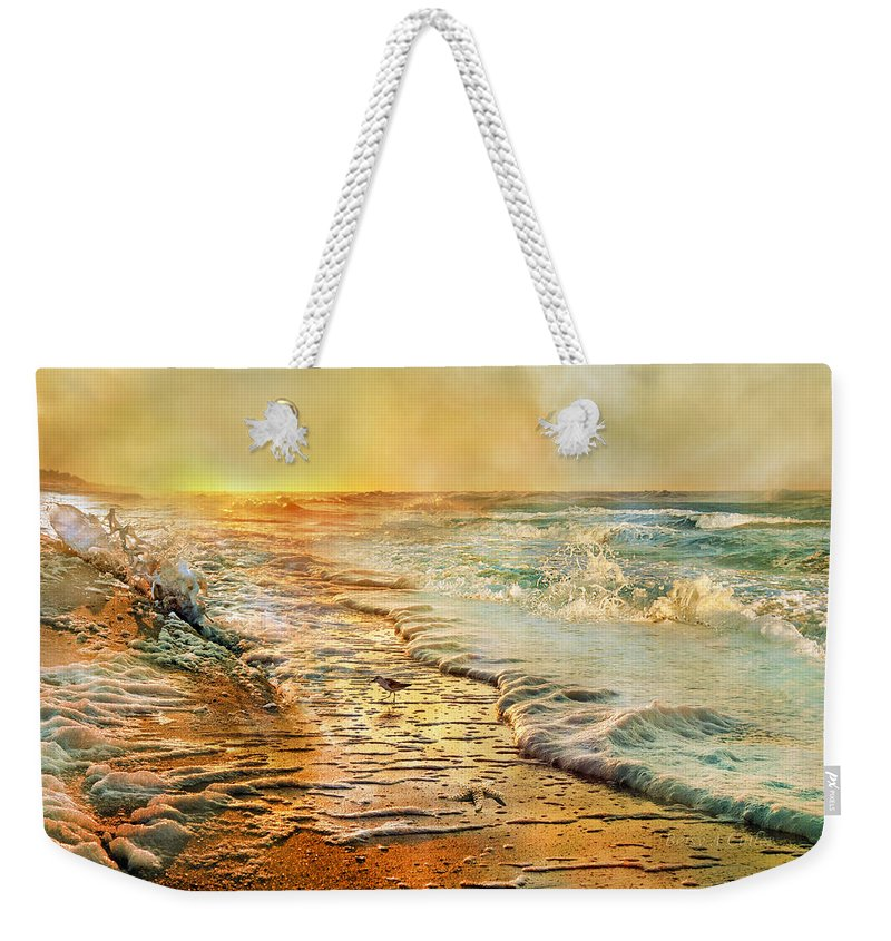 Beach Weekender Tote Bag featuring the photograph The Inspirational Sunrise by Betsy Knapp