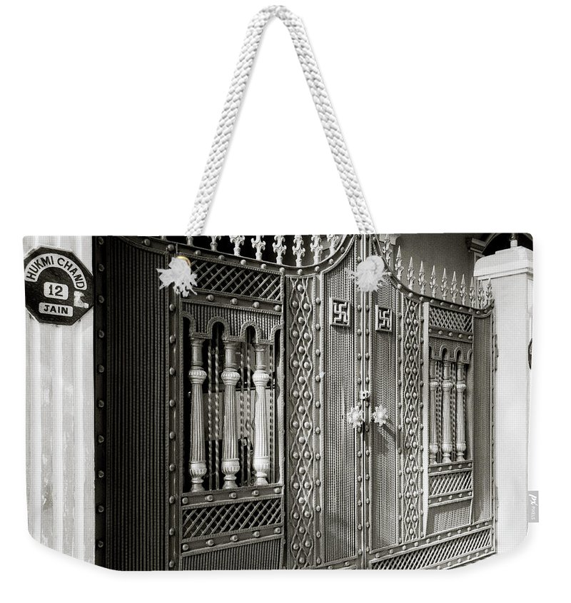 India Weekender Tote Bag featuring the photograph The Jain Gates by Shaun Higson