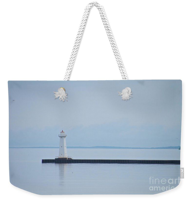 Sodus Weekender Tote Bag featuring the photograph The Jetty by William Norton