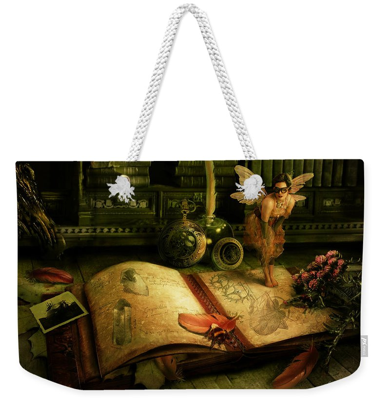 Fantasy Weekender Tote Bag featuring the digital art The Journal by Cassiopeia Art