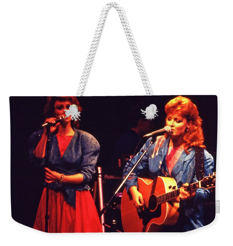 Music Weekender Tote Bag featuring the photograph The Judds by Mike Martin