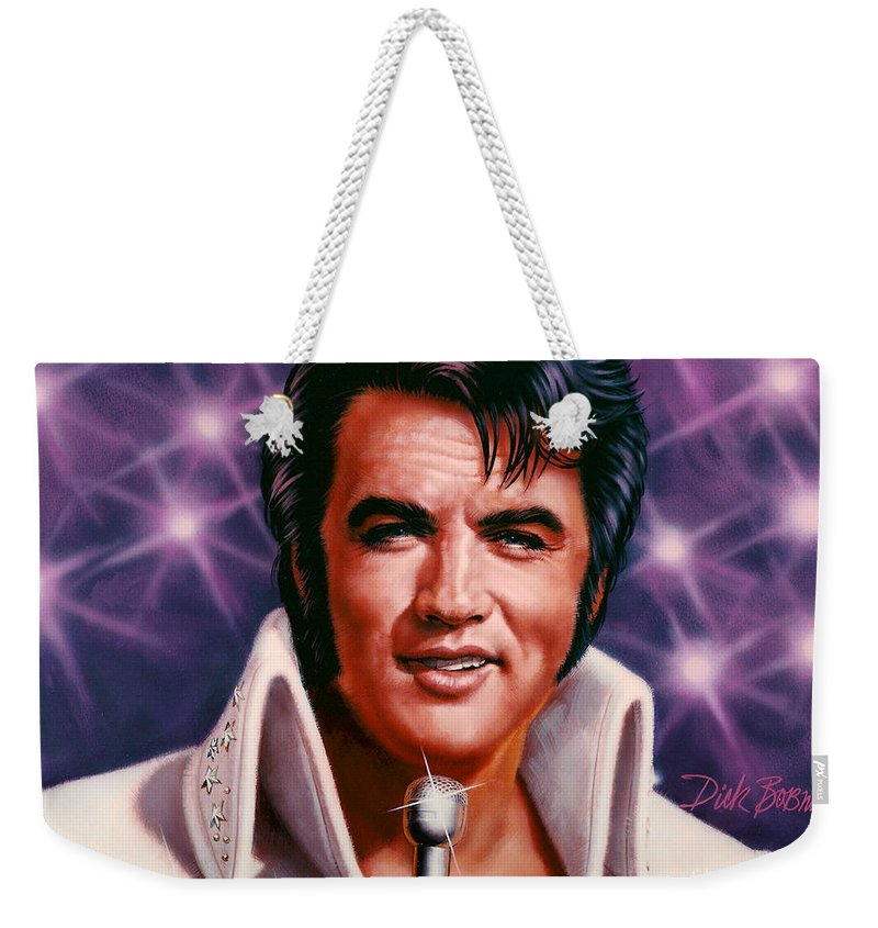 Portrait Weekender Tote Bag featuring the painting The King by Dick Bobnick