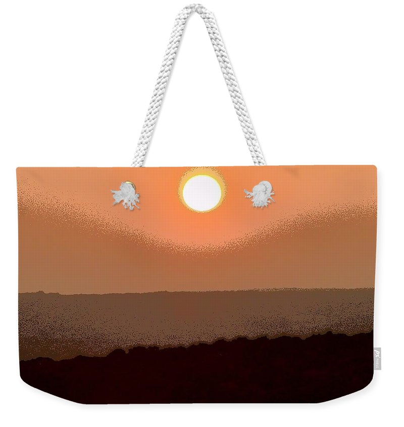 The King's Sunset Weekender Tote Bag featuring the photograph The King's Sunset - Stunning Painting Like Photograph by James Scott Preston