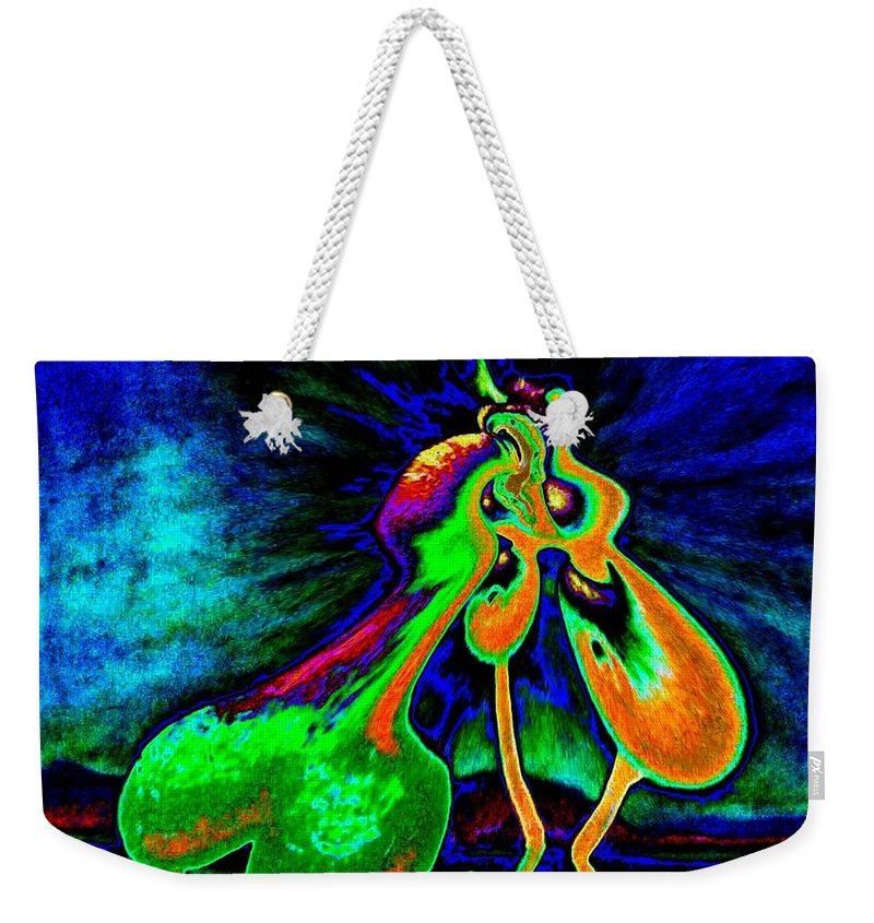Genio Weekender Tote Bag featuring the mixed media The Kiss Of Nature by Genio GgXpress