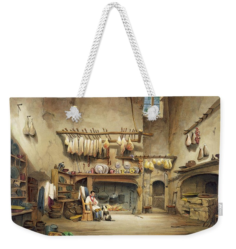 Cornish Stately Home Weekender Tote Bag featuring the painting The Kitchen by English School