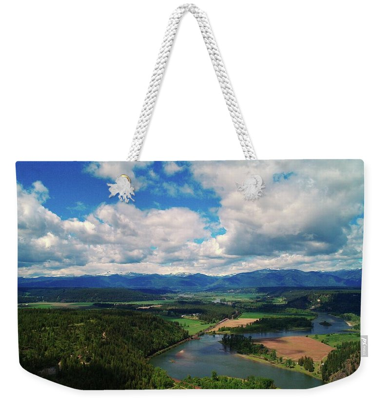 Idaho Weekender Tote Bag featuring the photograph The Kootenai River by Jeff Swan