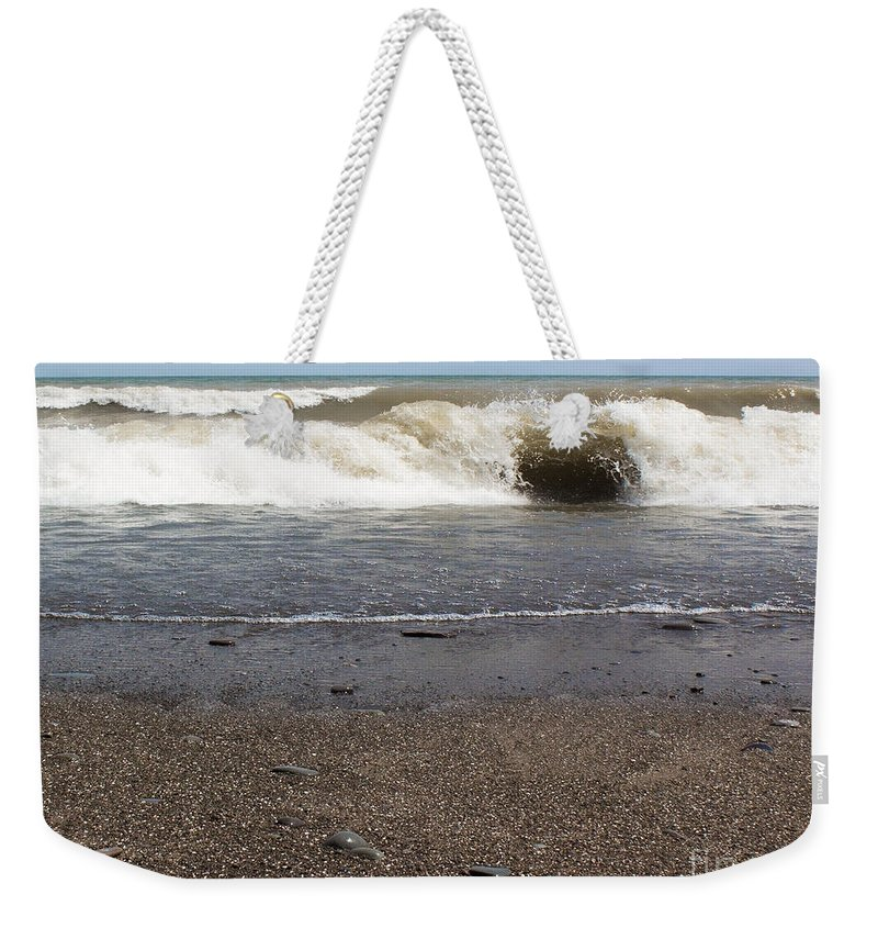 Lake Weekender Tote Bag featuring the photograph The Lake That Thinks Its An Ocean by Barbara McMahon