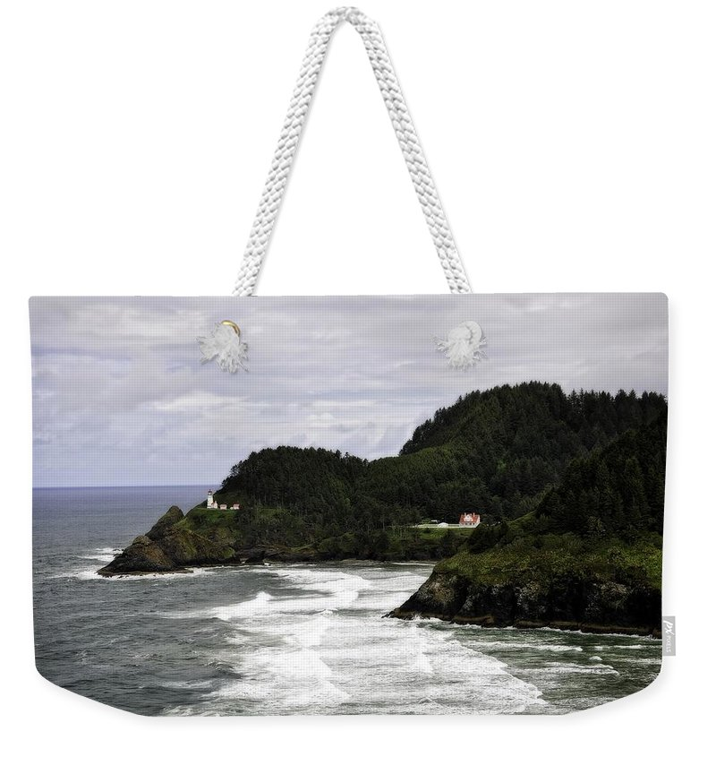 Heceta Head Weekender Tote Bag featuring the photograph The Landscape Of Heceta by Image Takers Photography LLC - Laura Morgan