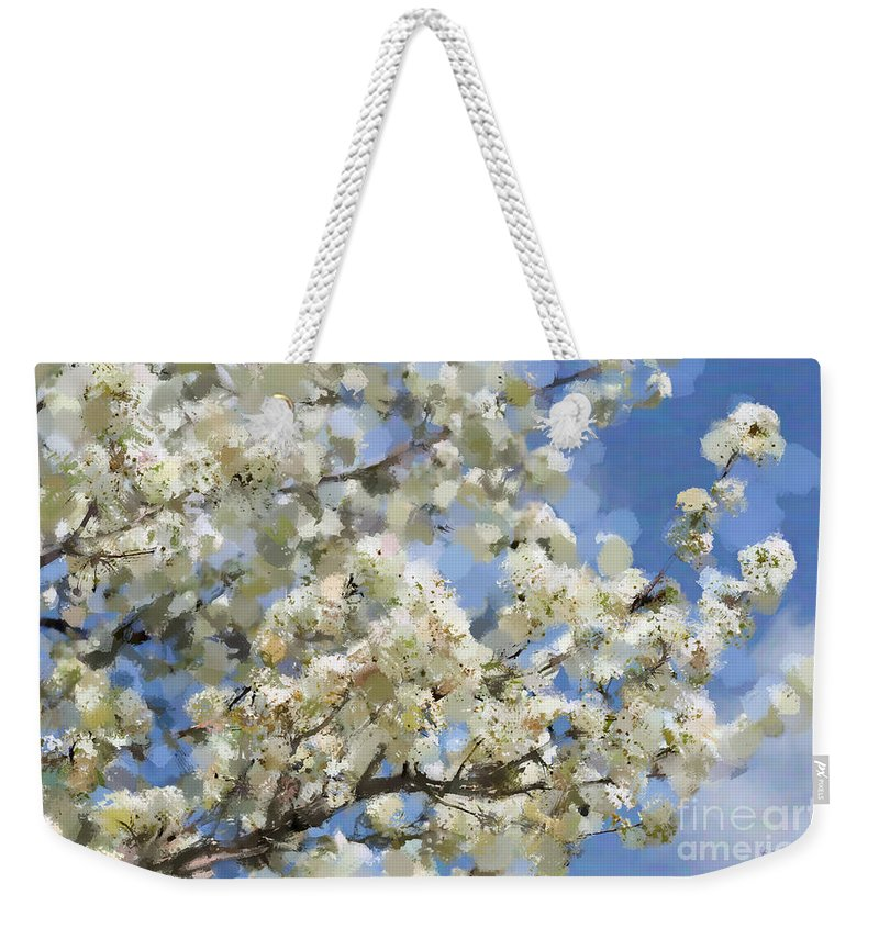 Tree Weekender Tote Bag featuring the photograph The Language Of Spring by Betty LaRue